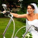 Harley motorcycle wedding photos